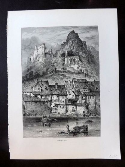 Picturesque Europe C1875 Antique Print. Oberstein, Germany